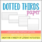 ~DOTTED THIRDS PAPER~ - [LANDSCAPE AND PORTRAIT] - {12 STYLES}