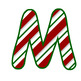 ~DOWNLOADABLE~ Candy Cane ABC's-Green Border