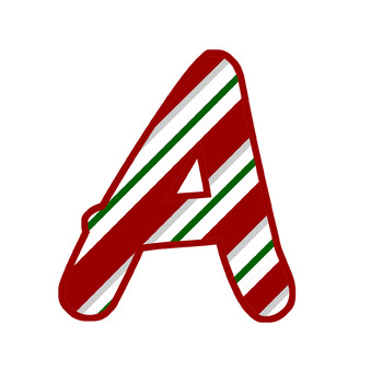 ~DOWNLOADABLE~Candy Cane ABC's - Red Border