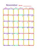 ~DOWNLOADABLE~ EDITABLE Crayon and Pencil Calendar