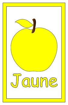 ~DOWNLOADABLE~FRENCH Color Posters -- Apple Theme