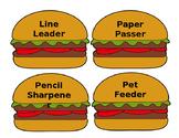 "~DOWNLOADABLE~ ""Hamburger Helpers"" Job Chart - EDITABLE!!!!"