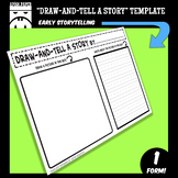 """""""DRAW-AND-TELL A STORY"""" STORYTELLING TEMPLATE for Younger"""
