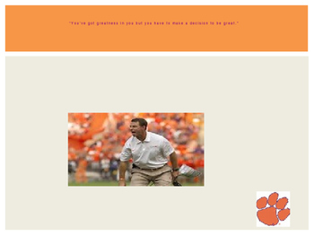 """Daboism"" Clemson quotes"