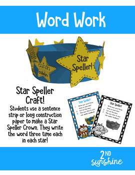 Daily 5 Word Work Crafts for August