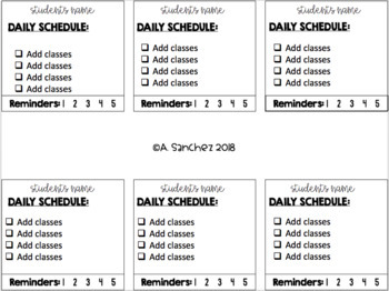 [Daily] Assignment Desk Checklists - Target Adhesive Squares