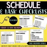 [EDITABLE] Schedule & Assignment Desk Checklists - #SpedSpringsAhead