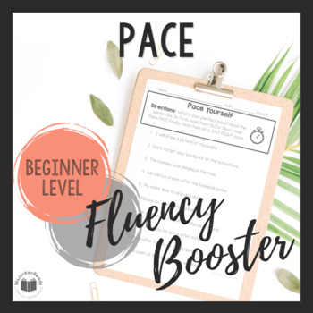 """Daily Fluency"" Booster Pack -- Pace"