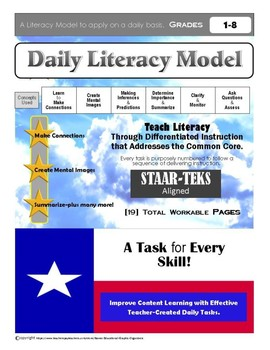 """Daily Literacy Practice Bundle"" STAAR-TEKS Aligned"