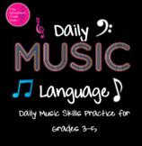 """Daily Music Language"": Interactive Music Skills Practice"