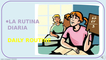 """""""Daily Routine"""". Power Point Presentation with audio."""