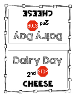 """Dairy Day"" Activity and Materials FREEBIE!"
