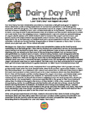"""""""Dairy Day"""" Activity and Materials FREEBIE!"""