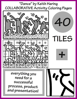 Keith haring to color for kids - Keith Haring Coloring Pages for ... | 350x270