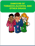 """Safety-""""Danger of Tobacco, Alcohol and Drugs"""" Writing prompt-Art Activity"""
