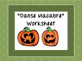 """Danse Macabre"" & Saint-Saens Worksheet"