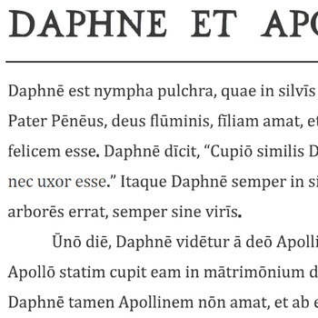 """Daphne et Apollo"" Reading Passage and Activities"