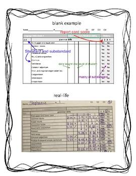 First Grade ELA Standard Checklist & Assessment Data Language,Grammar,Vocabulary