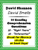"""David Smells"" by David Shannon 20 Reading Comprehension Questions"