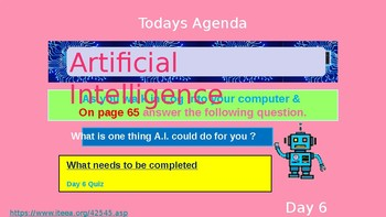 (Day 6) Artificial Intelligence
