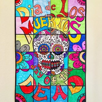 Day of the Dead Collaborative Art Poster
