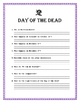 """""""Day of the Dead"""" -Reading & Comprehension Unit- Cultural"""