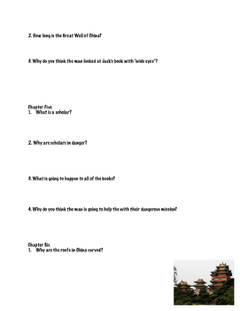 """""""Day of the Dragon King"""" Comprehension Questions"""