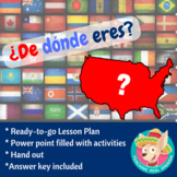 ¿De dónde eres? Lesson Plan