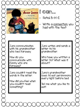 """""""Dear Juno"""" Reading Street Writing Connection"""