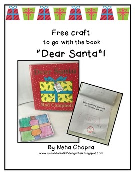 """Dear Santa"" Craft based on the book by Rod Campbell"