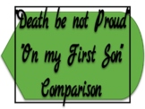 """""""Death Be Not Proud"""" vs. """"On My First Son"""" Comparison"""