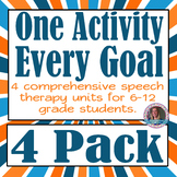 Every Goal Speech Therapy Unit - 4 Unit Bundle