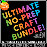 The ULTIMATE Speech Therapy Craft Bundle {No Prep!} Cut & Paste Fun!
