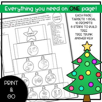 Pop Up Christmas Trees: Articulation & Language Bundle