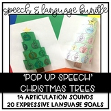 Pop Up Christmas Trees: Articulation & Language Bundle