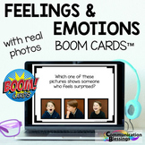 Distance Learning Real Photo Feelings and Emotions Boom Cards