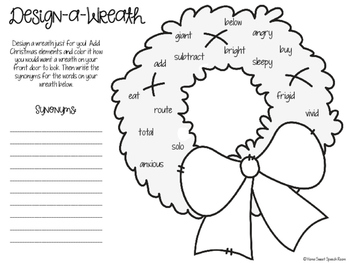 Design-A-Wreath: No-Prep Speech and Language Activity