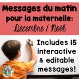 {December Christmas-Themed French Daily Morning Messages}