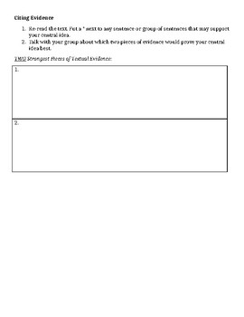 """""""Declaration of Independence"""" Close Reading Organizer & Exit Ticket"""
