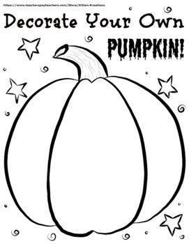 """Decorate Your Pumpkin"" Version 1"