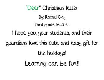 """""""Deer"""" Christmas Letter"""