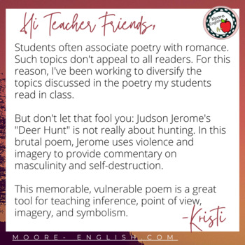 """""""Deer Hunt"""" Inference and Analysis Questions and Extension Activity"""
