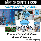 {Défi de gentillesse} A French Random Acts of Kindness Advent Calendar