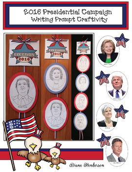 """Democracy Dangler"" A 2016 Presidential Campaign Writing Prompt Craftivity"