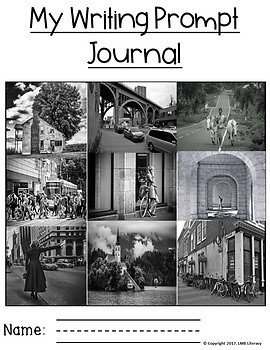 Writing Prompt Journal Using Real Photos
