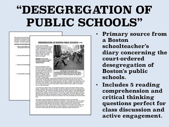 """Desegregation of Public Schools"" - US History/APUSH"