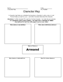 """""""Desiree's Baby"""" by Kate Chopin Character Map for Armand"""