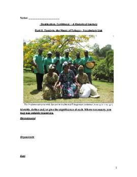 Tambrin, the Music of Tobago – Vocabulary List