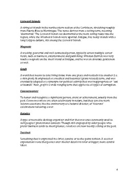 Carnival in Antigua – Vocabulary List