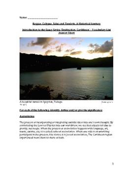 Reggae, Calypso, Salsa and Tambrin: An Introduction – Vocabulary List